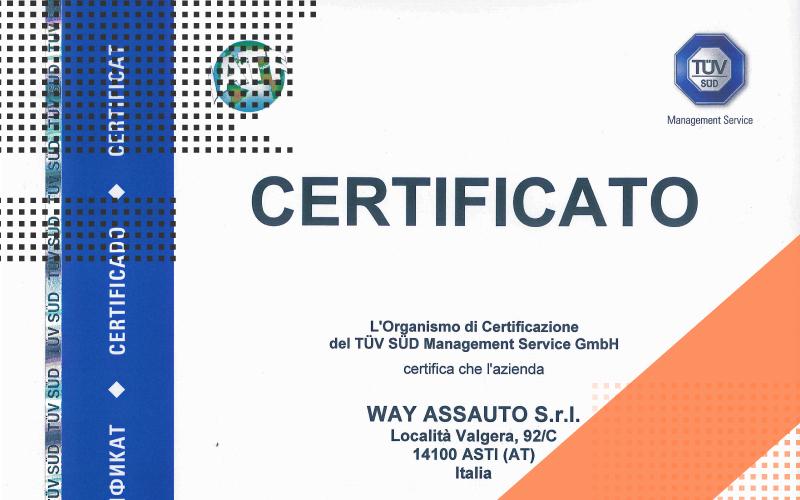 Certificato IATF16949